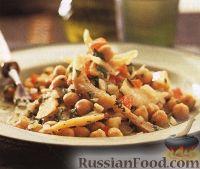 Фото к рецепту: Салат из трески и нута