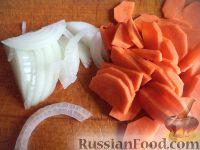 Фото приготовления рецепта: Скумбрия, запеченная с овощами - шаг №3