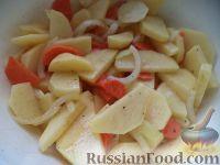 Фото приготовления рецепта: Скумбрия, запеченная с овощами - шаг №6