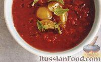 Фото к рецепту: Томатный суп-пюре с медом