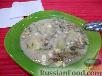 Фото к рецепту: Суп с плавленым сырком