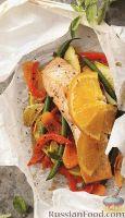 Фото к рецепту: Рыба, запеченная с овощами в пергаменте