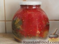 Фото к рецепту: Печеные баклажаны с томатом