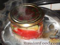 Фото приготовления рецепта: Салат из помидоров и огурцов - шаг №10