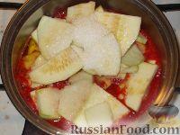 Фото приготовления рецепта: Кабачки «Тещин язык» - шаг №7
