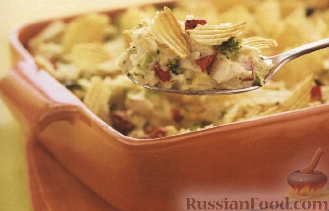 Рецепт Курица, запеченная с овощами и рисом