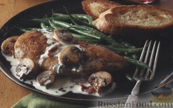 Рецепт Куриное филе в сливочном соусе