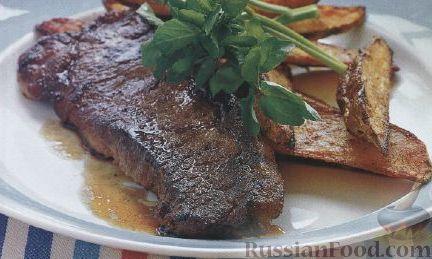 Рецепт Говяжьи стейки под соусом