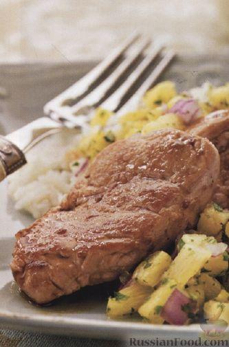 Рецепт Свинина с ананасовой сальсой