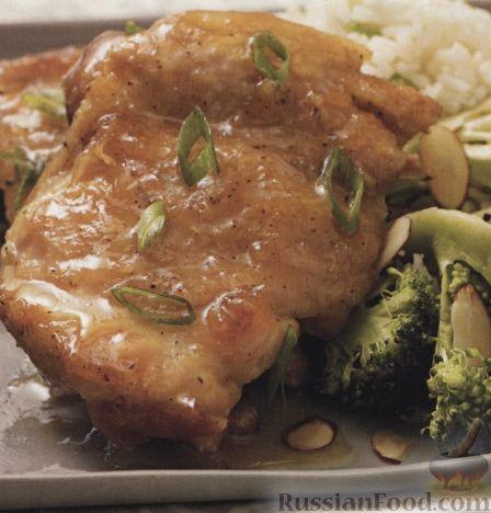 Рецепт Жареные куриные бедрышки в медовом сиропе