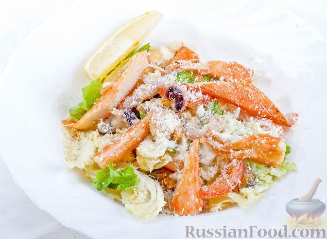 Салаты с морепродуктами и пекинской капустой рецепт 190