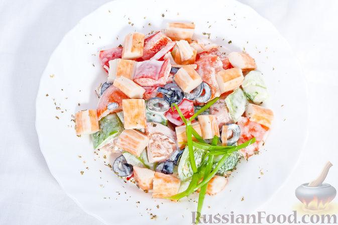 Рецепт Почти греческий салат с мясом краба