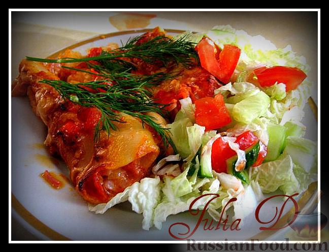 Рецепт Каннелони с ветчиной в томатном соусе