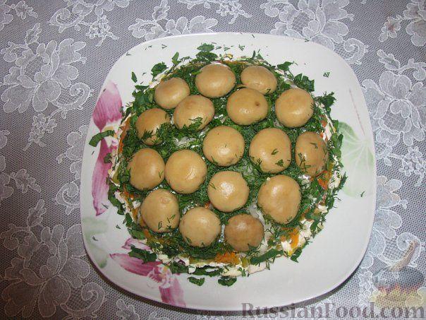 салат желтая грибы на поляна рецепт с фото пошагово