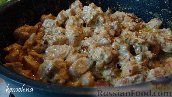 Рецепт Филе индейки в сливочном соусе