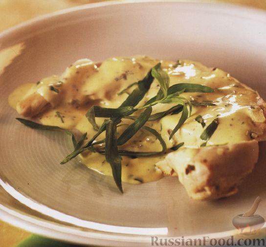 Рецепт Куриное филе под сливочным соусом