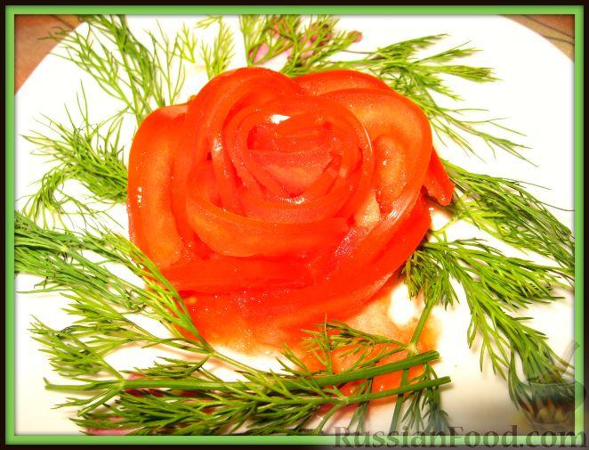Рецепт Украшение блюда из помидора