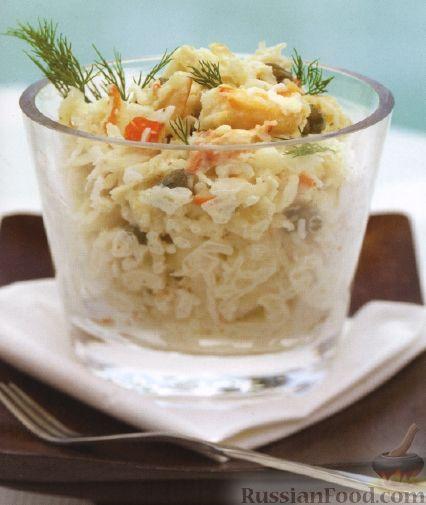 Рецепт Салат из крабового мяса и сельдерея