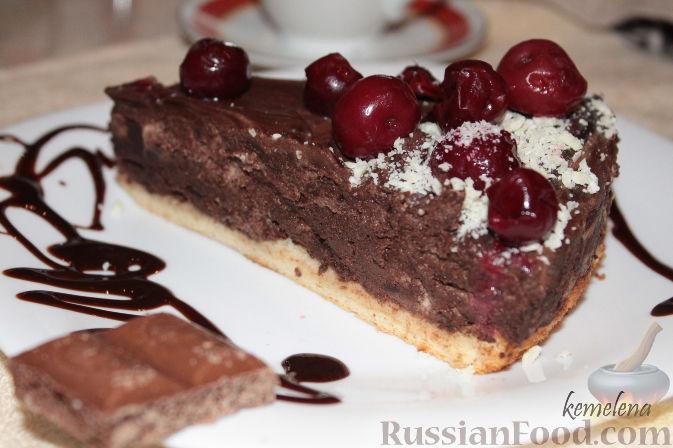 Рецепт Шоколадный десерт с вишней