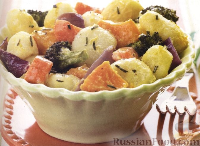 Рецепт Ньокки с печеными овощами