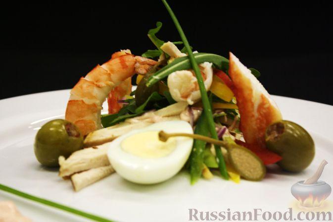 Рецепт Салат «Русский» с морепродуктами