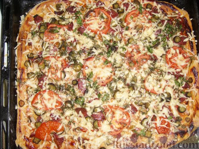 Пицца из майонеза