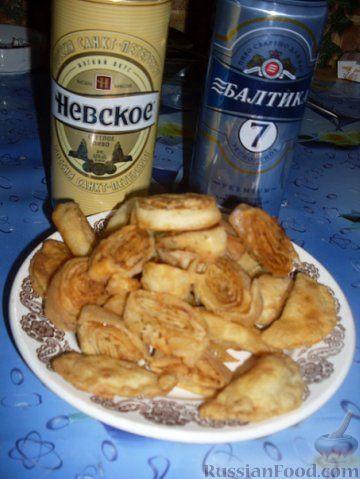 Рецепт Сухарики жареные и перепечи с мясом
