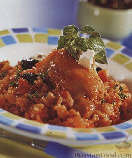Рецепт Курица по-гречески с рисом