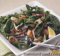 Фото к рецепту: Салат из шпината и бекона