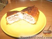Фото к рецепту: Жареные дрожжевые пирожки с рисом и мясом