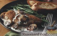 Фото к рецепту: Куриное филе в сливочном соусе