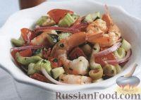 Фото к рецепту: Салат с креветками и овощами