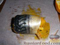 Фото приготовления рецепта: Рулетики из скумбрии - шаг №3