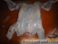 Фото приготовления рецепта: Курица, фаршированная блинами - шаг №3