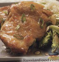 Фото к рецепту: Жареные куриные бедрышки в медовом сиропе