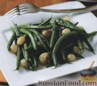 Фото к рецепту: Соте из стручковой фасоли и лука