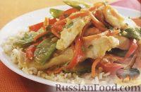 Фото к рецепту: Овощное соте с куриным филе