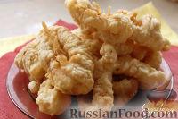 Фото к рецепту: Кольца кальмаров в кляре