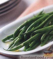 Фото к рецепту: Жареная стручковая фасоль с чесноком