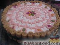"""Фото к рецепту: Тортик """"Зефирный"""""""