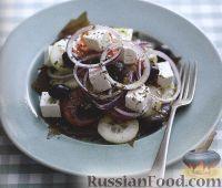Фото к рецепту: Салат греческий с сыром фета