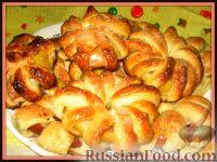 Фото к рецепту: Ананасы и яблоки в тесте