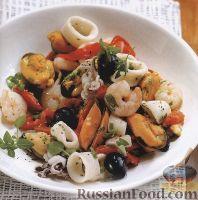 Фото к рецепту: Салат из морепродуктов