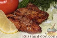 Фото к рецепту: Жареный судак, маринованный с имбирем и корицей