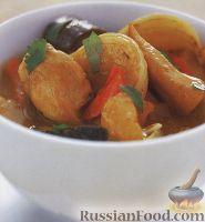Фото к рецепту: Куриное филе с овощами и курагой