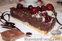 Фото к рецепту: Шоколадный десерт с вишней
