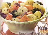 Фото к рецепту: Ньокки с печеными овощами