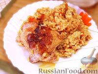 Фото к рецепту: Курица тушеная с рисом