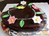 """Фото к рецепту: Торт """"Цветочная поляна"""""""