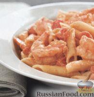 Фото к рецепту: Макароны с креветками